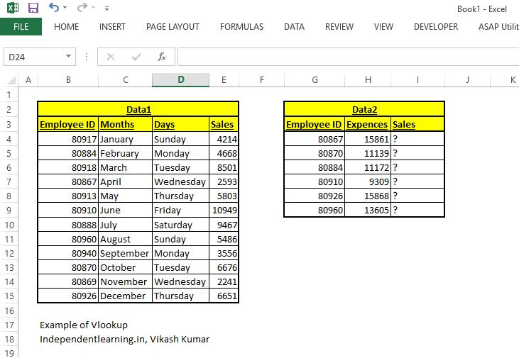 Vlookup_example_how_to_use_Vlookup_uses_independentlearning.in_excel_training_online