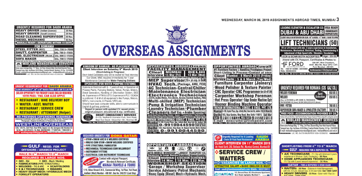 Page2 Assignment Abroad Times Jobs Saturday, December 15, 2018.