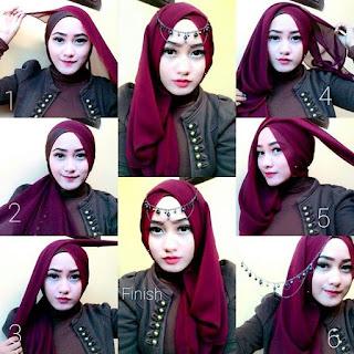 tutotial hijab pesta terbaru