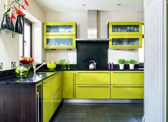 Desain Dapur Minimalis Cantik Berwarna Hijau