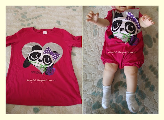 T shirtten bebek salopeti nasıl dikilir? / How to sew baby salopet with t shirt / diy