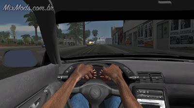 gta sa mod first person drive dirigir carro em primeira pessoa