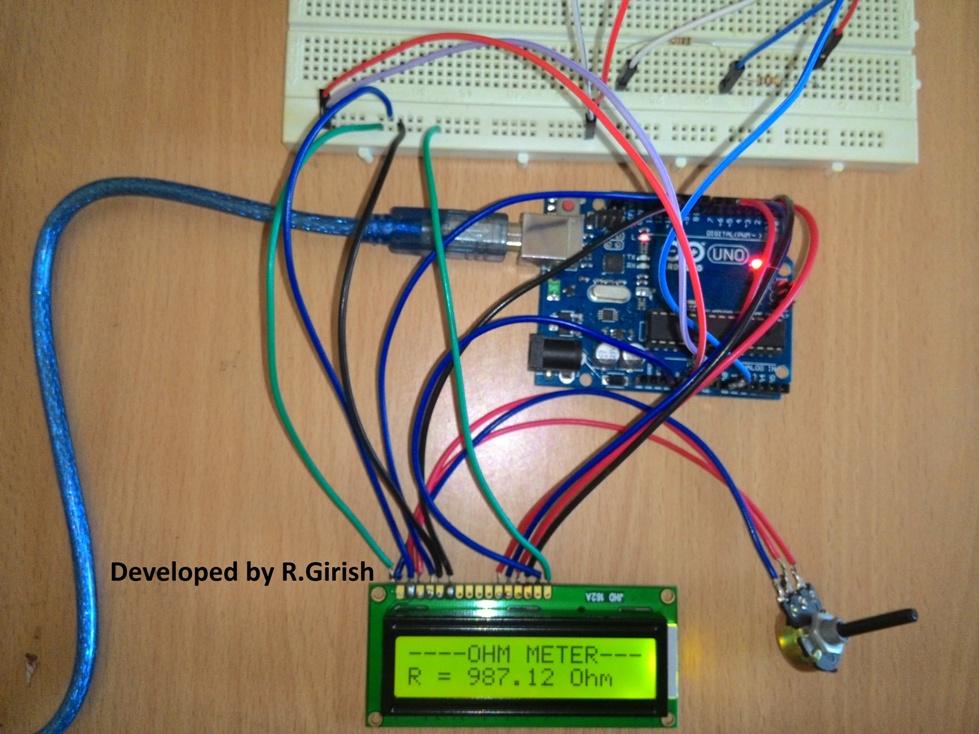 How to Make an Arduino Capacitance Meter - Circuit