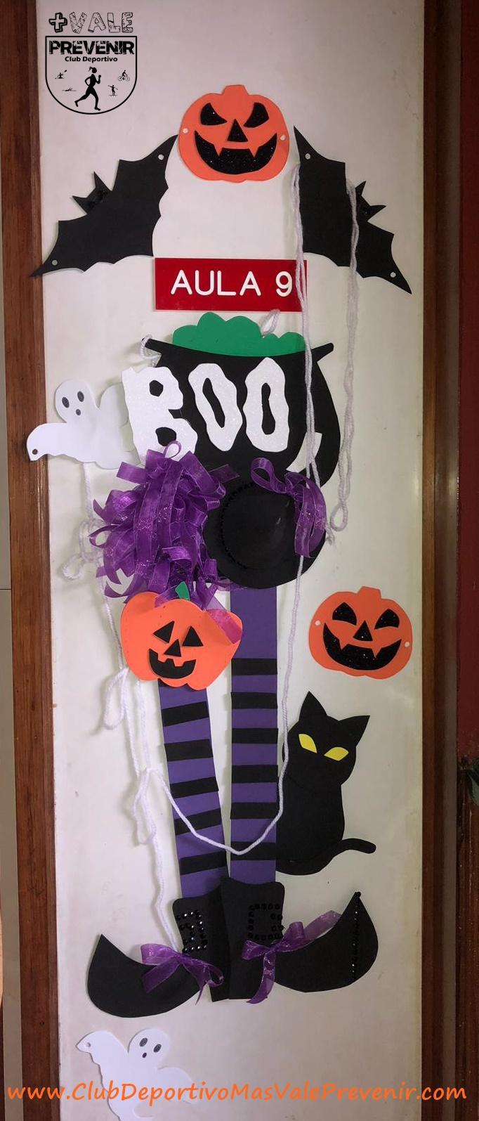 decoracion puerta halloween bañaderos arucas
