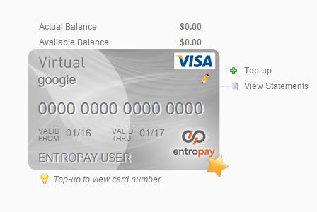 شرح موقع entropay.com للحصول على بطاقات إئتمانية إفتراضية
