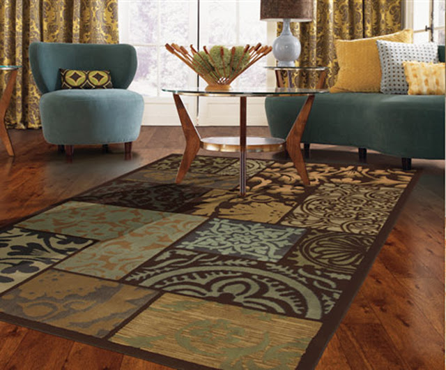 Relax n rave quick fix home makeover ideas - Contemporary rugs for living room ...