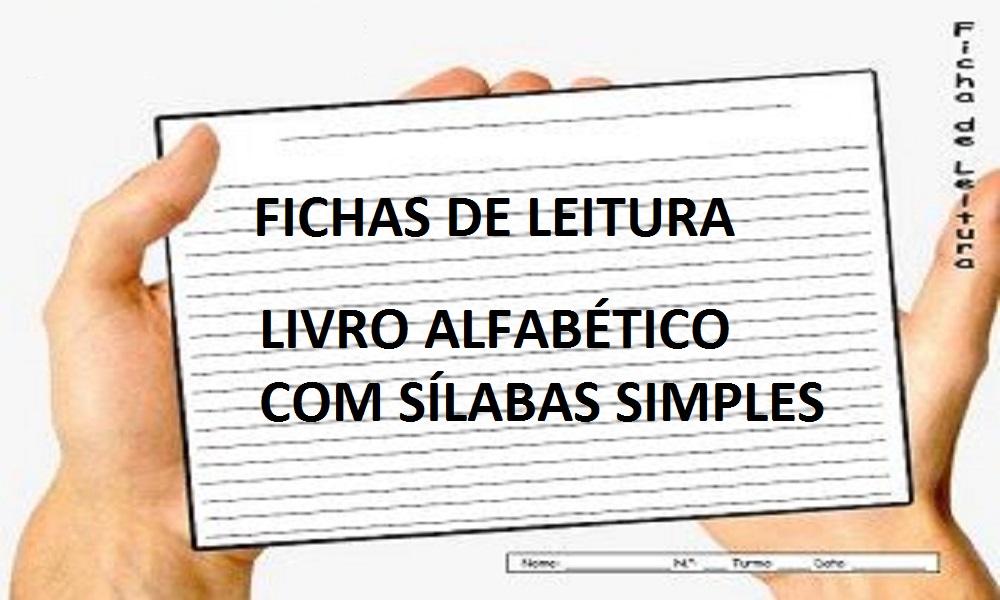 Livro Alfabético Com Sílabas Simples Fichas De Leitura Jotta Club