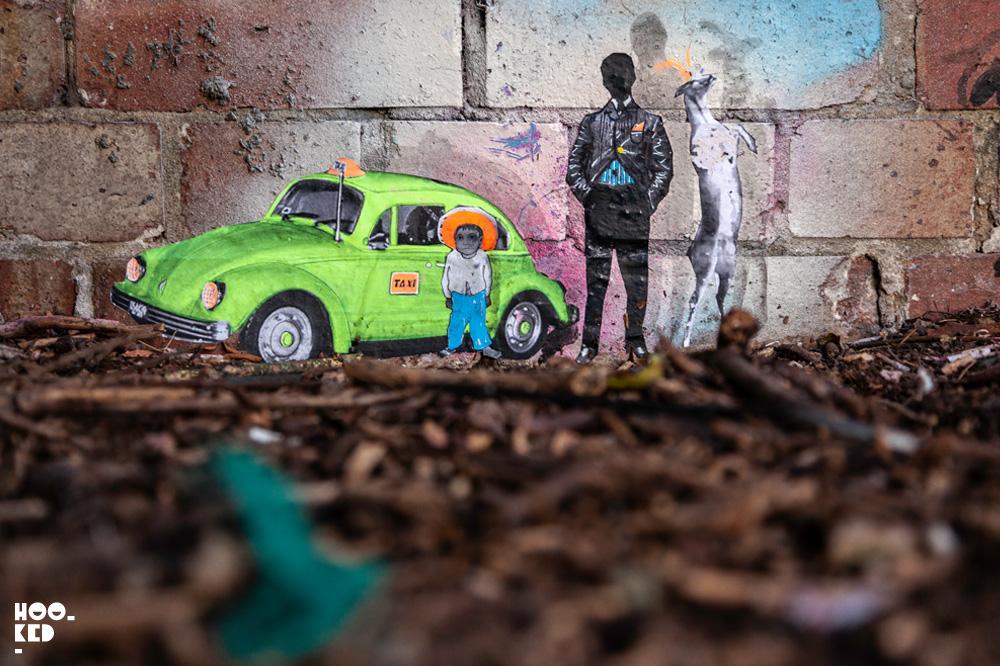 Amazing Miniature Street Art scenes by Mexican artist Pablo Delgado