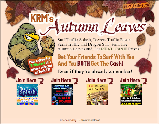 Surf to find the Autumn leaves and get real cash prizes!
