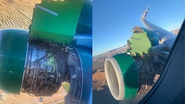 Detik-detik Tutup Mesin Pesawat Lepas Usai Take Off