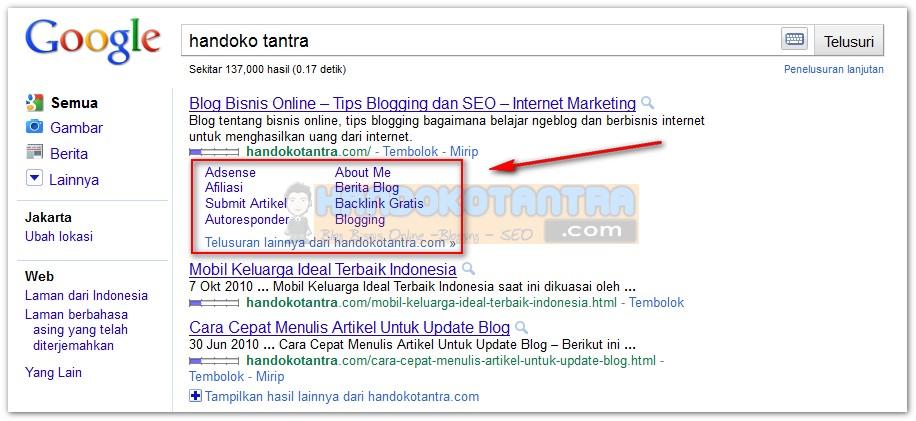 Sitelinks Blog Bisnis Online