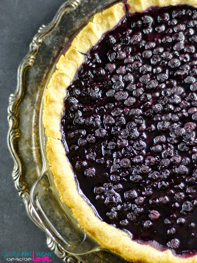Gluten-Free Vegan Blueberry Pie (refined sugar-free) from Unconventional Baker