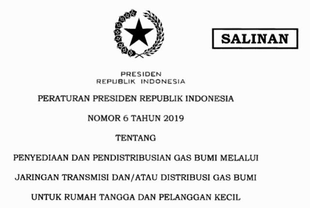Peraturan Presiden Nomor 6 tahun 2019