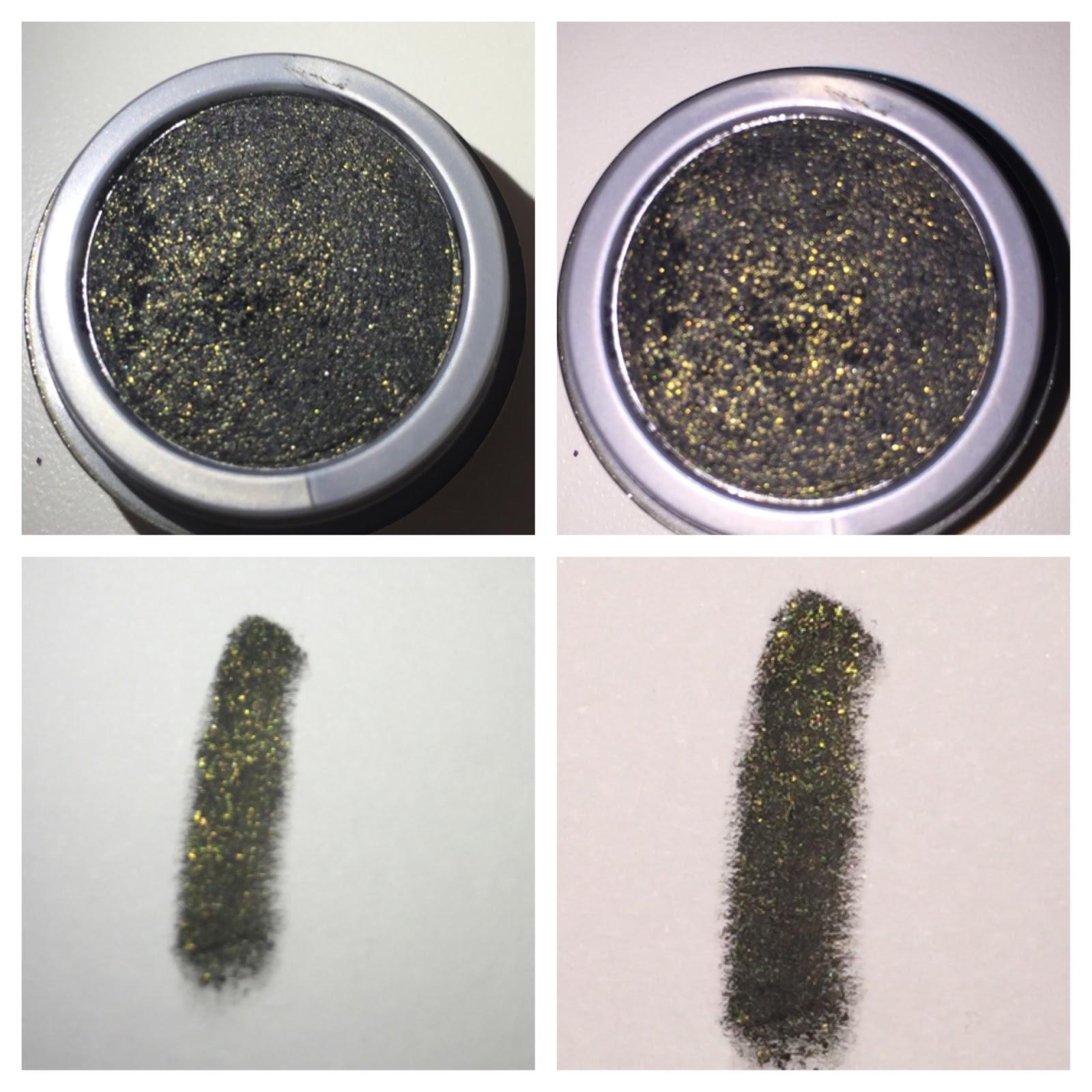 Milani Fierce Foil Eyeliner Review and swatch Black gold foil