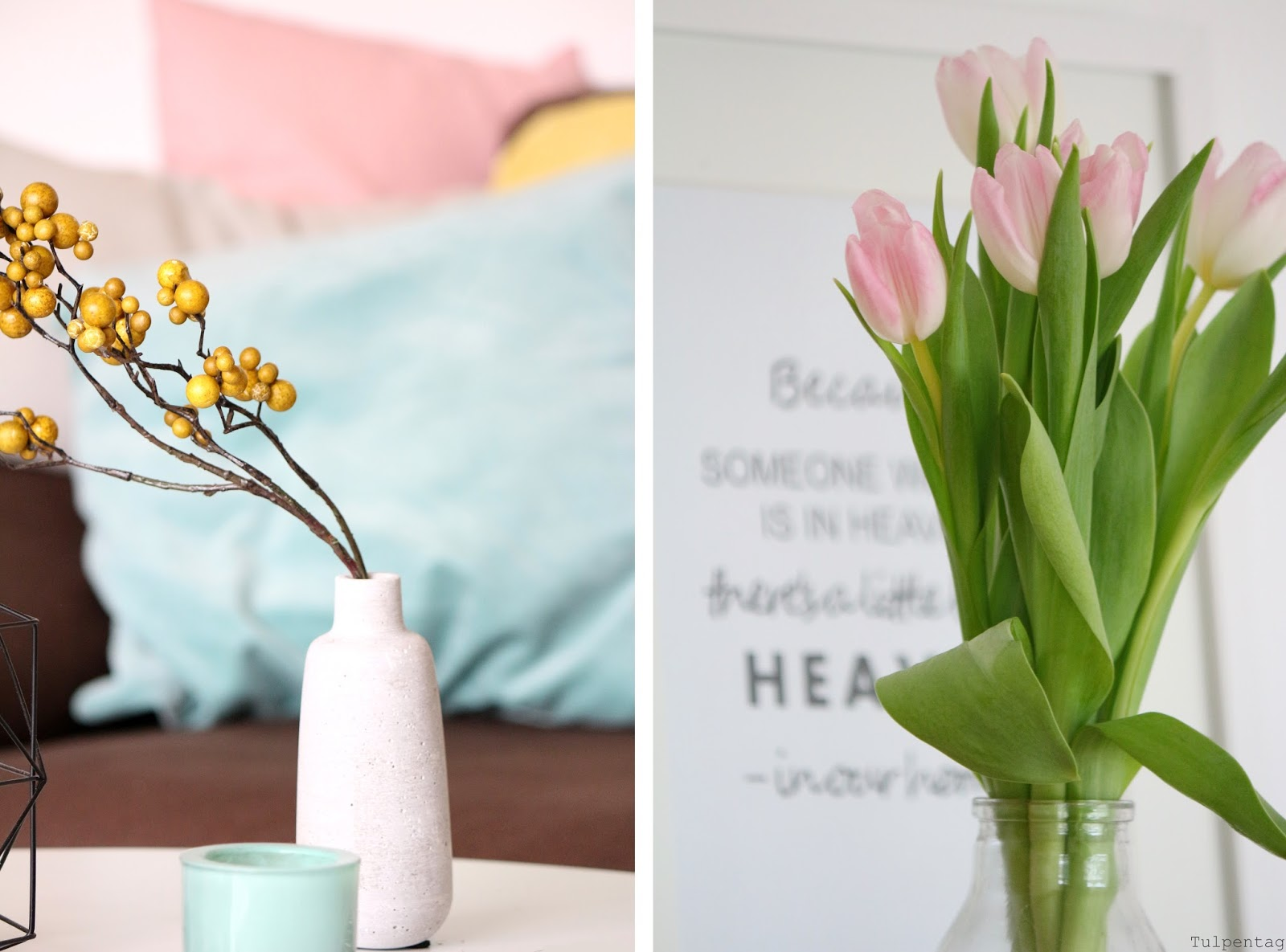 pastell deko und tulpen den fr hling ins haus holen tulpentag foodblog. Black Bedroom Furniture Sets. Home Design Ideas