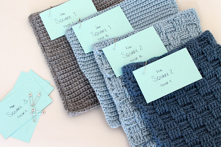 When working on a sampler crochet project, be sure to label your squares as you go! | The Inspired Wren