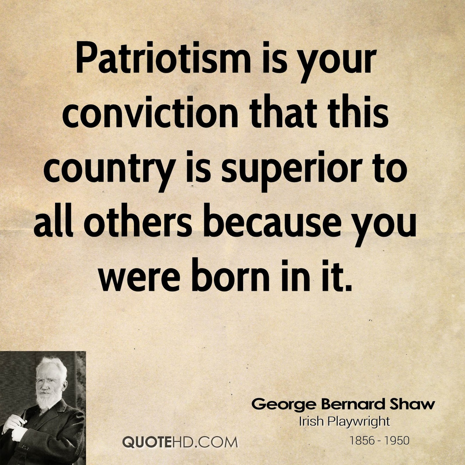 The Thoughts Of Chairman Bill: Patriotism