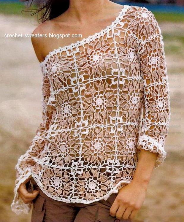 Crochet Sweater For Women