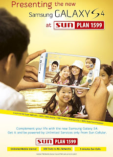 Samsung Galaxy S4 at Sun Plan