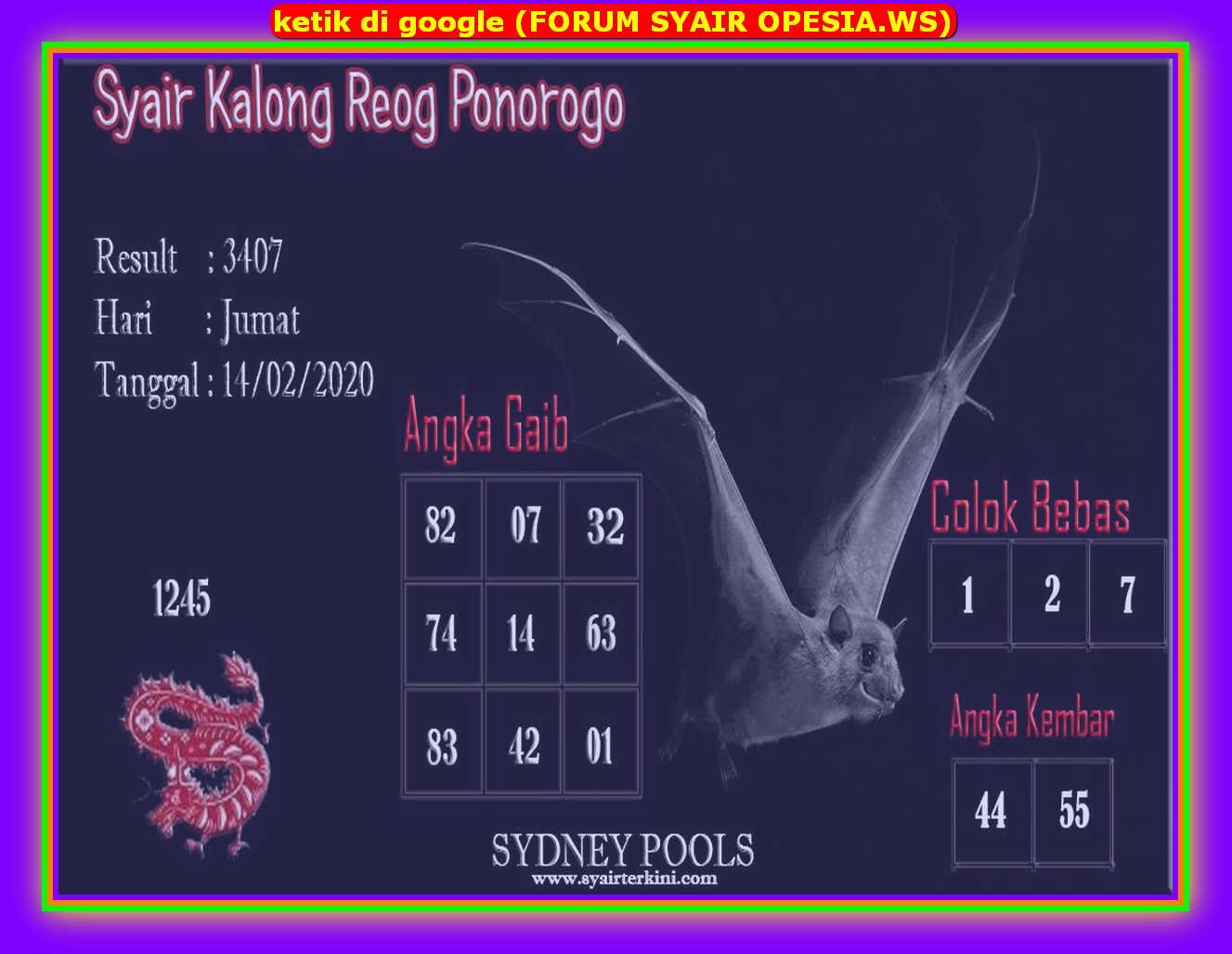 Kode syair Sydney Jumat 14 Februari 2020 34