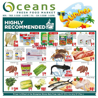 Oceans Canada Flyer July 21 - 27, 2017