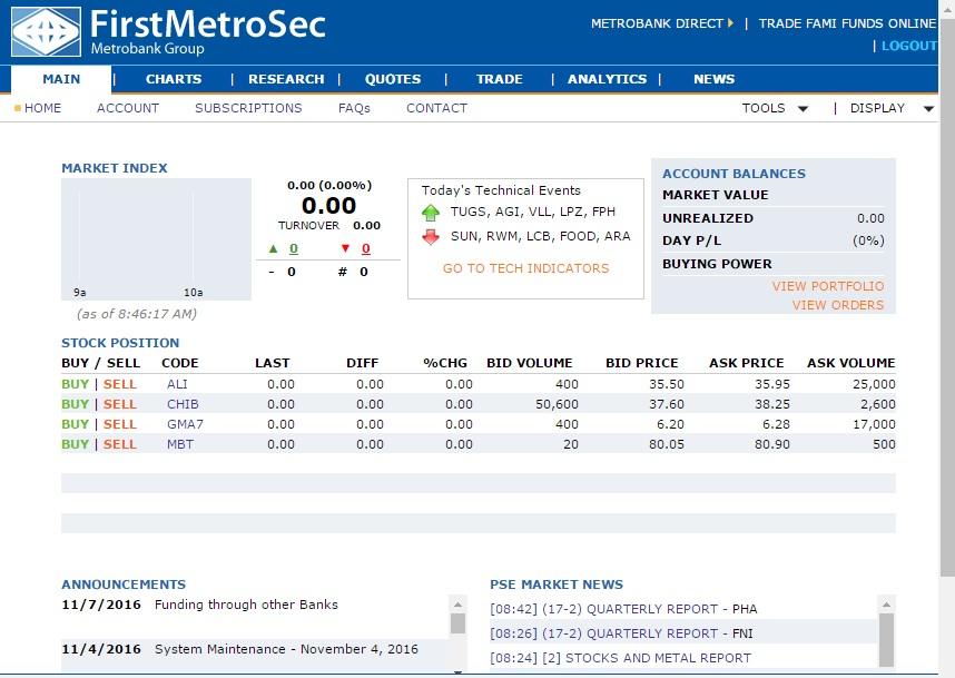 How to transfer funds from metrobank to first metro sec