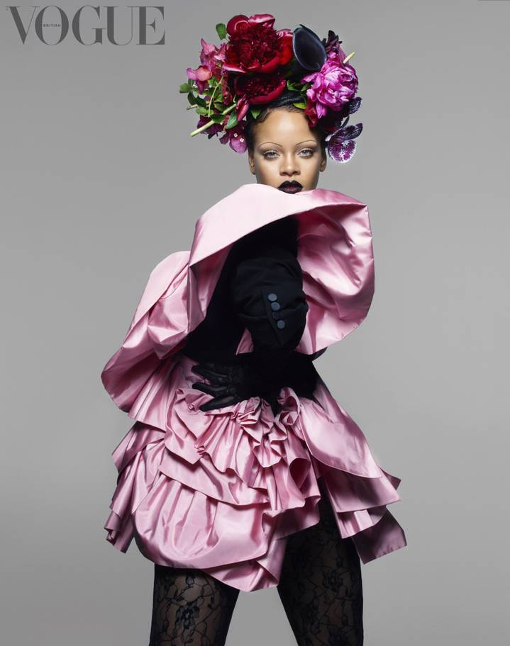 Rihanna is the first black woman to grace the  cover of the magazine's September edition, which is widely considered to be the most prestigious (Nick Knight/British Vogue)