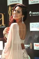 Prajna Actress in bhackless Cream Choli and transparent saree at IIFA Utsavam Awards 2017 018.JPG