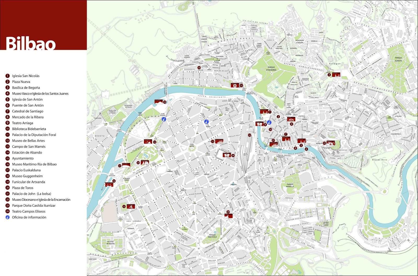 mapa de espanha bilbao Mapas de Bilbao   Espanha | MapasBlog mapa de espanha bilbao