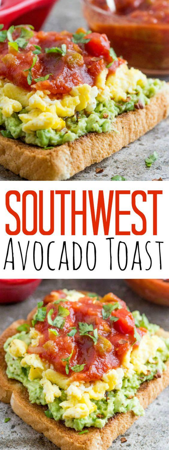 SOUTHWEST AVOCADO TOAST #southwest #avocado #toast #breakfast #breakfastrecipes #breakfastideas