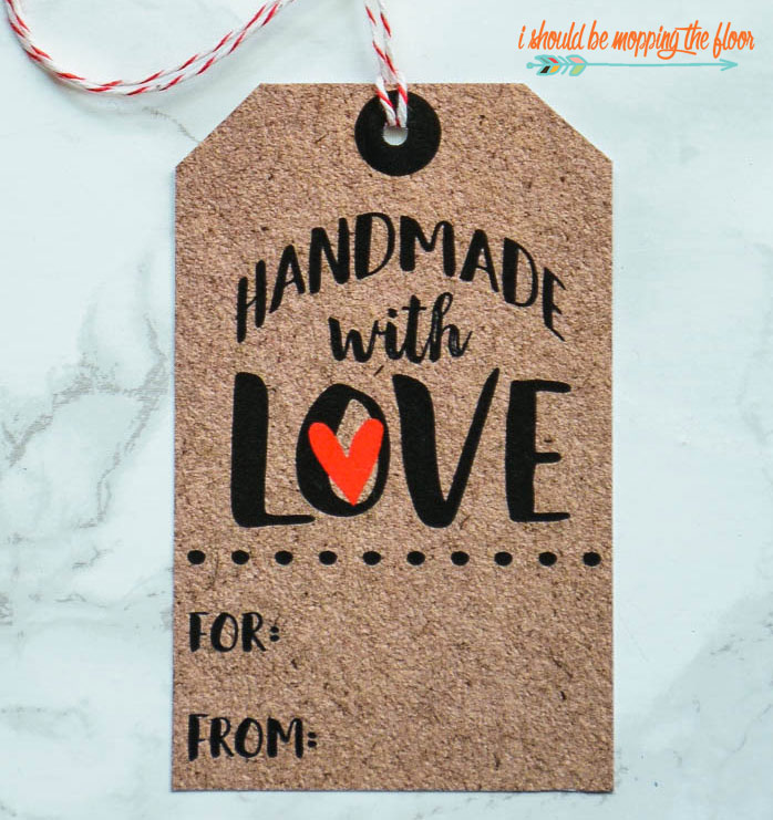 Free Printable Handmade with Love Tags
