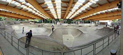skatepark EGP paris couvert éclairé