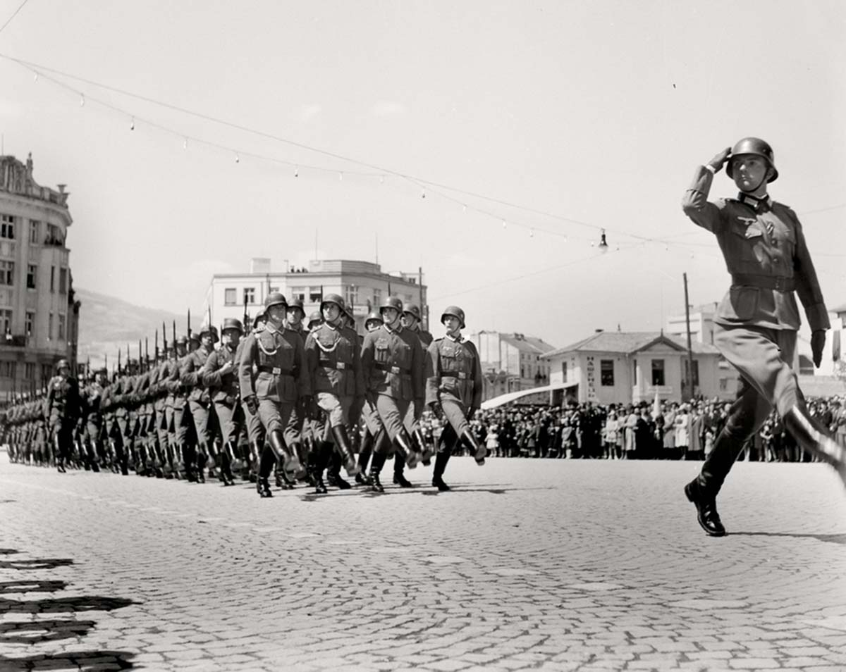 Military parade of the Wehrmacht.