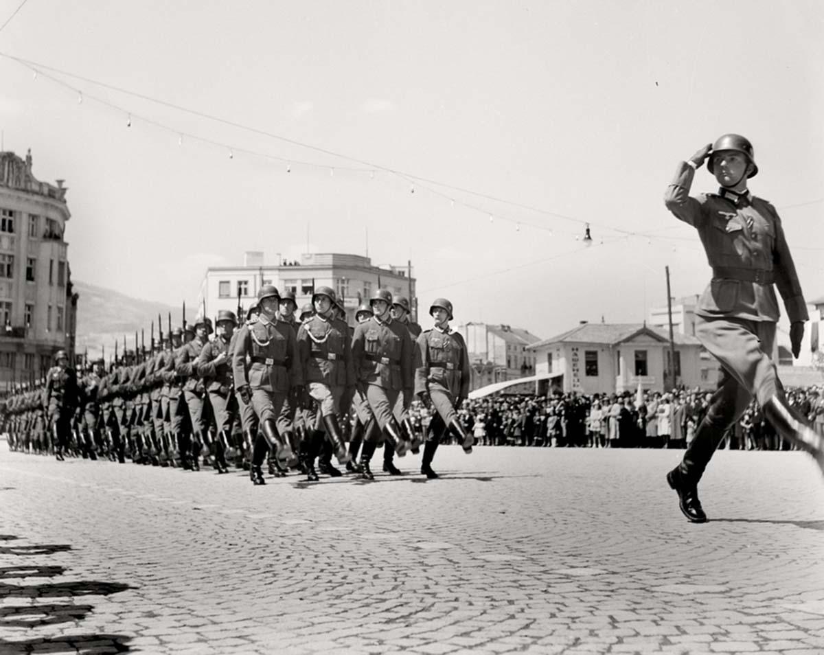 Desfile militar de la Wehrmacht.