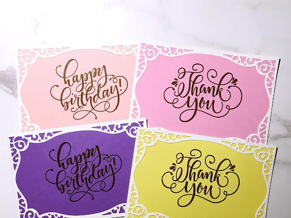 Simple Birthday and Thank You Cards with Pop-Tones Cardstock