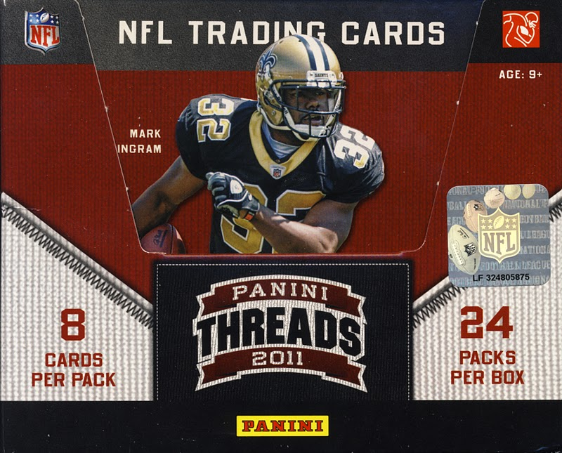All About Cards: 2011 Panini Threads Football NFL Trading Cards Box Break Recap and Review
