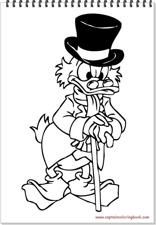 Mcduck Coloring Pages Donald Duck Coloring Page