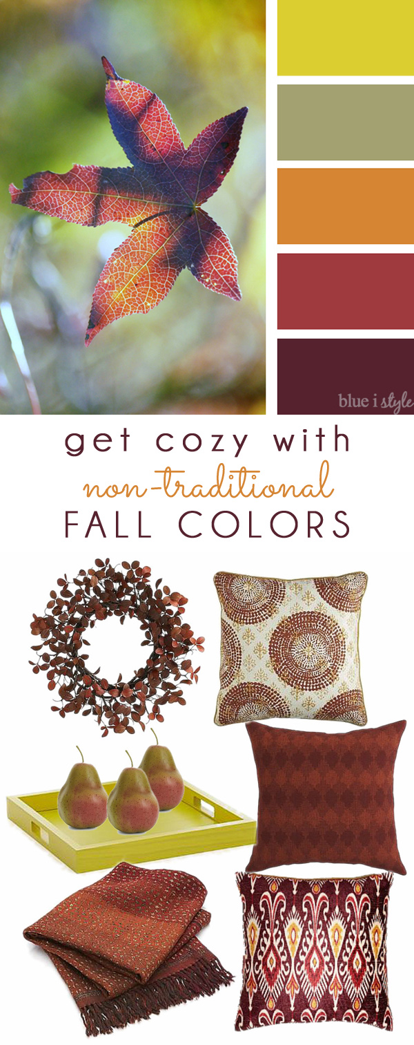 Fall Colors Mood Board Plum, Orange and Gold