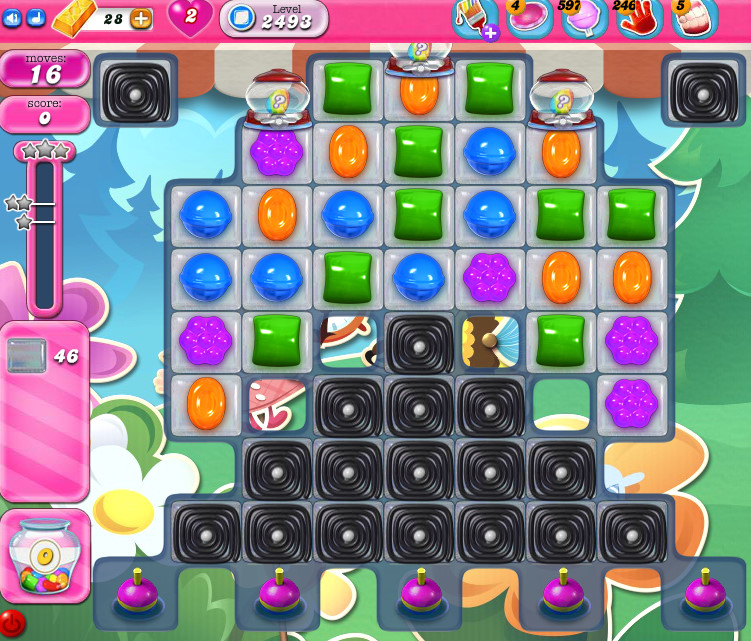 Candy Crush Saga level 2493