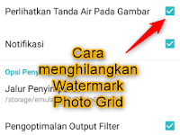 100% Work | Cara Menghilangkan Watermark Photo Grid