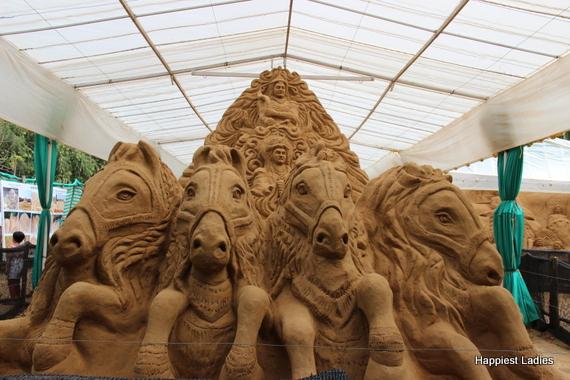 Mahabharath War - sand museum mysore