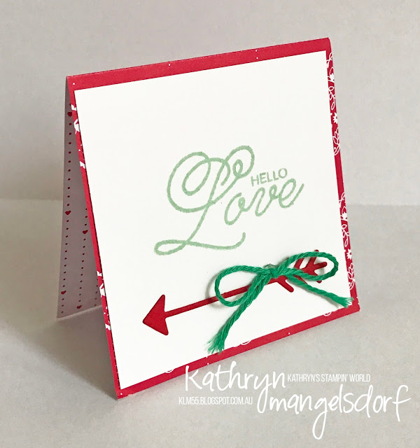 Stampin' Up! Sealed with Love & Love Notes Framelits Dies, Valentine's Day Card created by Kathryn Mangelsdorf