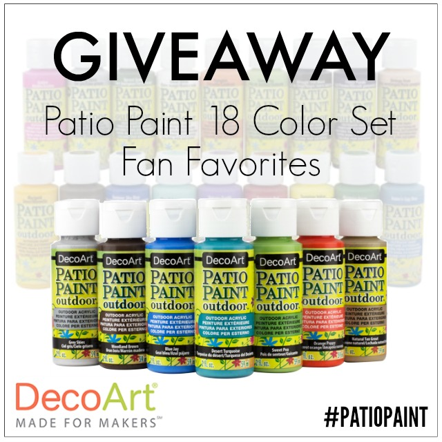 DecoArt Patio Paint giveaway
