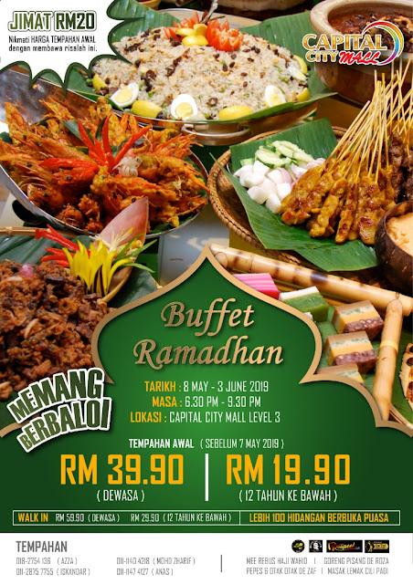 Buffet Ramadhan 2019 - Capital City Mall, Johor Bahru