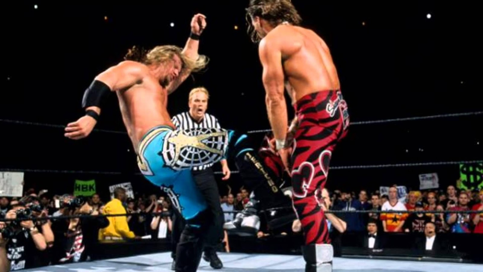 Image result for chris jericho vs shawn michaels wrestlemania 19