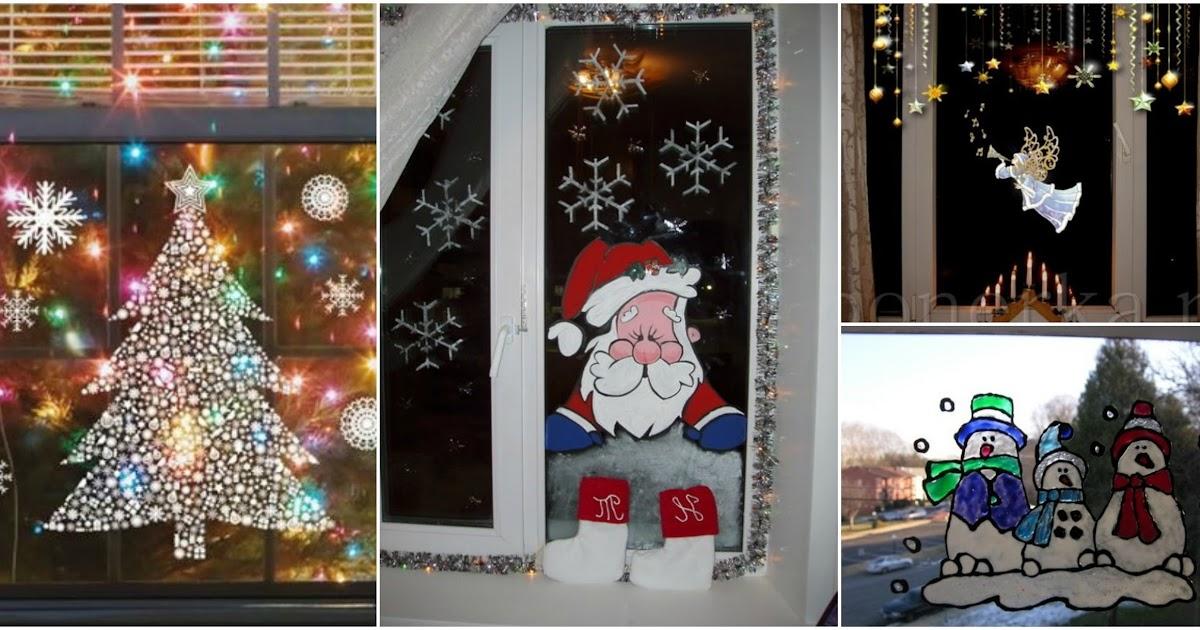 12 ideas navide as para decorar ventanas en esta navidad for Como adornar puertas y ventanas en navidad