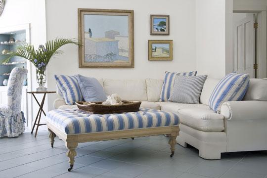 New Home Interior Design: Breezy In Blue: Florida Beach