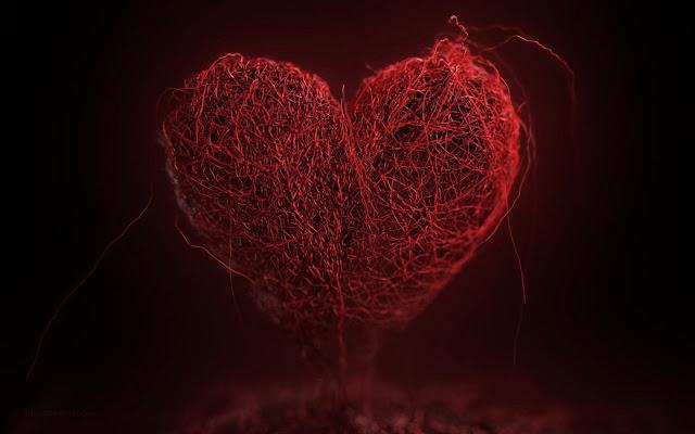 Afbeelding met groot rood hart