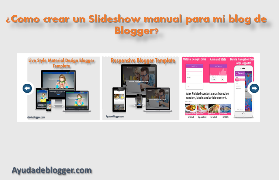 Como crear un Slideshow manual para mi blog de Blogger