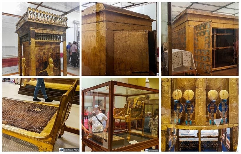 Objetos do faraó Tutankhamon no Museu do Cairo - Diário de Bordo: 2 dias no Cairo